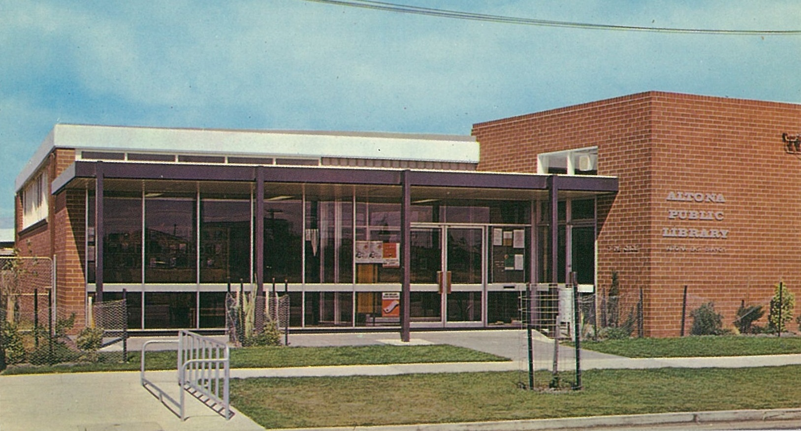 1966 Altona East Branch Library commemorative postcard cropped 2