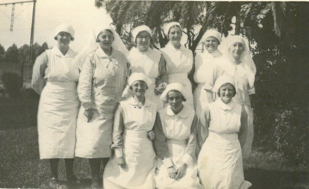 Matron Penrose with trainee nurses in 1930