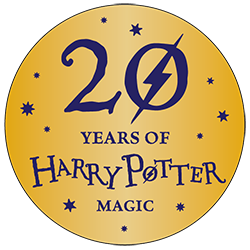 20 years of harry potter logo